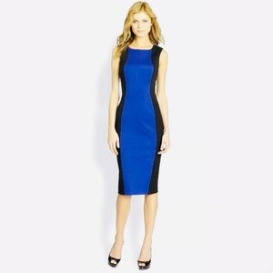 Trina Turk Mandahl Ponte Dress Black/Blue Size 6